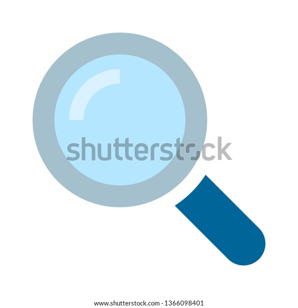 Search Icon Zoom Symbol Magnifying Glass Stock Vector