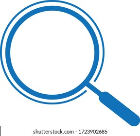 Search icon, zoom icon vector isolate (blue version)