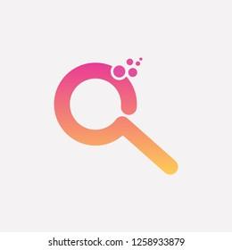 Search internet vector logo icon design. Finder web magnifying glass locator symbol logotype - Vector