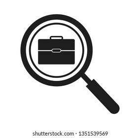 Search Job Icon. Flat style vector EPS.