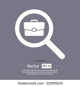 search job, icon. One of set web icons