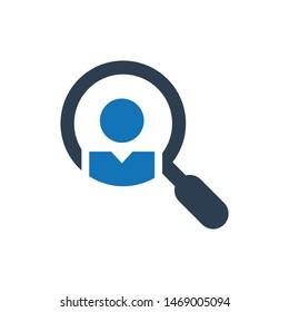 Search job icon. vector graphics