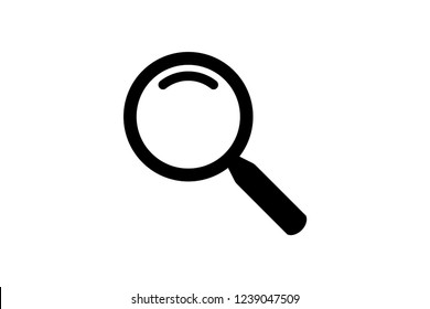 Search Magnifying glass icon symbol vector