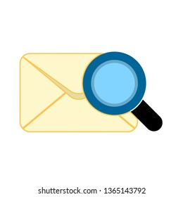 search mail vector icon. E-mail icon, Envelope illustration, message