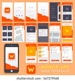 Search Mobile Apps Material Design, UI, UX, GUI kit with Sign In, Sign Up, Search Restaurant, Location, Rating, Home, Cart and Payment Screens.