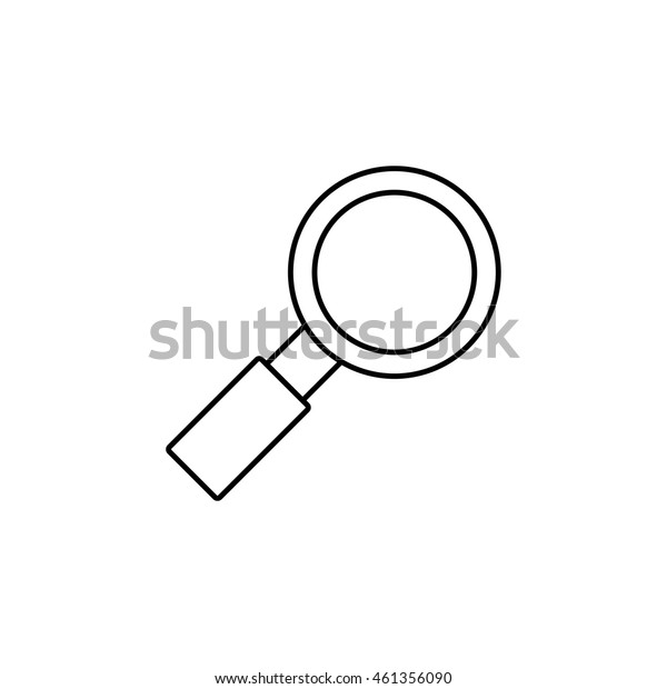 Search outline icon illustration isolated vector sign symbol