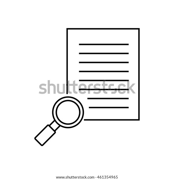 Search paper outline icon illustration isolated vector sign symbol