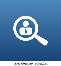Search people icon human recruitment business symbol