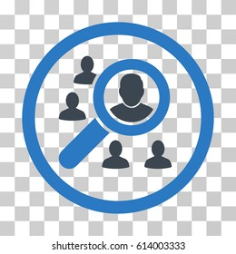 Search People icon. Vector illustration style is flat iconic bicolor symbol, smooth blue colors, transparent background. Designed for web and software interfaces.