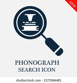 search Phonograph icon. Editable search Phonograph icon for web or mobile.