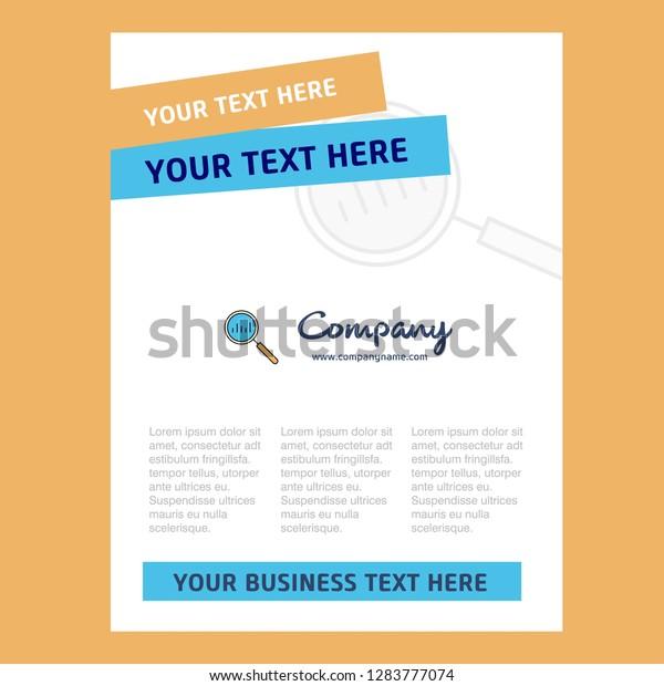 Search Title Page Design Company Profile Stock Vector
