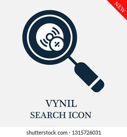 search Vynil icon. Editable search Vynil icon for web or mobile.