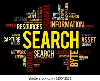 SEARCH word cloud collage, business concept background