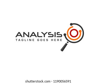 searching and analyzing for business finance and marketing logo vector