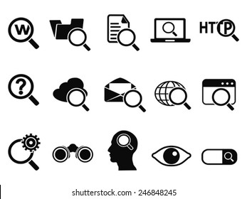 searching icons set
