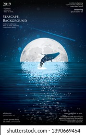 Seascape Poster Background Graphic Design Vector Illustration