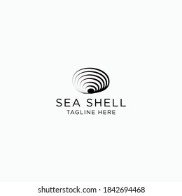 Seashell Design logo template. as icons, illustrations and vectors