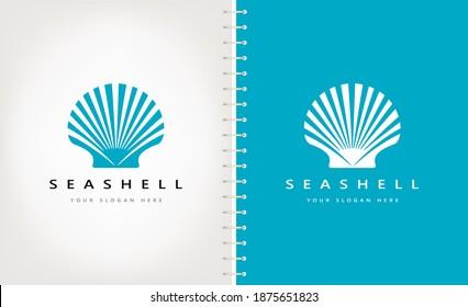 Seashell logo vector. Nature design.
