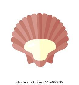 Seashell shell / shellfish or seafood. Colored. Vector icon. EPS 10