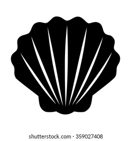Seashell / shellfish marine life flat vector icon for apps and websites