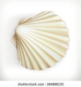 Seashell, vector icon