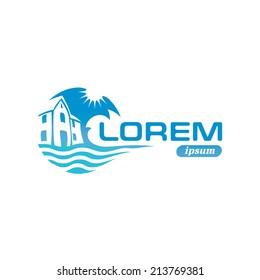 Seaside real estate logo template