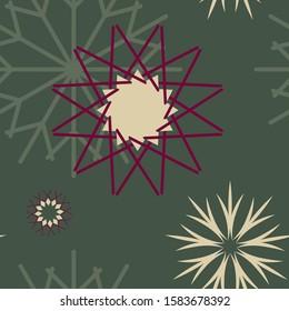 Seasonial winter vector with hand drawn Snowflakes