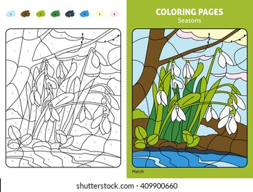 seasons coloring page kidsprintable design 260nw