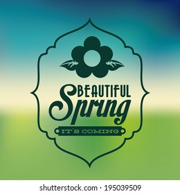 Seasons design over blur background, vector illustration