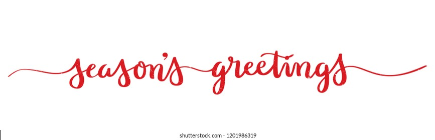 SEASON'S GREETINGS brush calligraphy banner