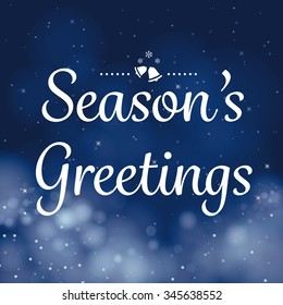 seasons greetings calligraphy card vector design