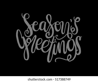 Seasons greetings hand lettered quote bible stock vector royalty seasons greetings hand lettered quote bible verse modern calligraphy m4hsunfo