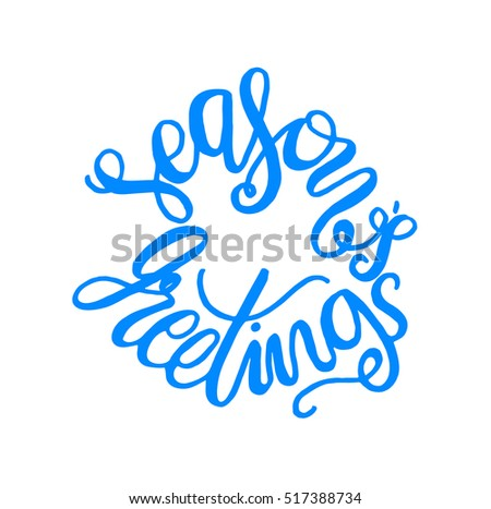Seasons Greetings Hand Lettered Quote Bible Stock Vector Royalty