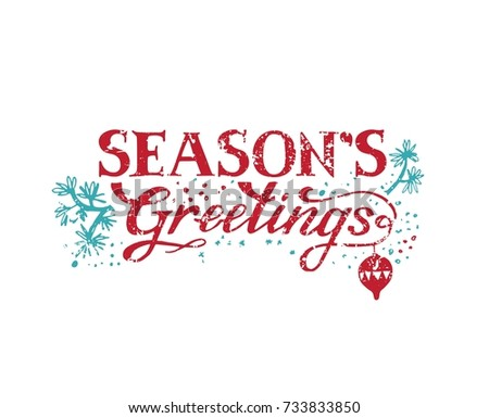 Seasons greetings hand lettering poster card stock vector royalty seasons greetings hand lettering for poster card or invitation vector illustration m4hsunfo