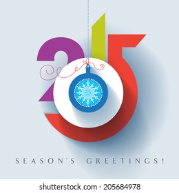 Seasons greetings. Happy New 2015 year. Colorful, contemporary design. Vector EPS 10 illustration.