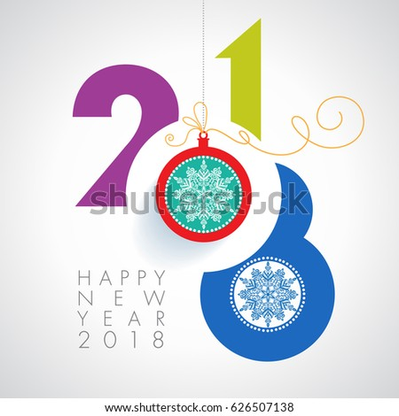 Seasons greetings happy new 2018 year stock vector royalty free seasons greetings happy new 2018 year colorful contemporary design illustration m4hsunfo