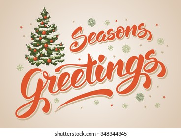 Seasons greetings images stock photos vectors shutterstock seasons greetings vintage card for winter holidays hand lettering calligraphic inscription by brush and m4hsunfo