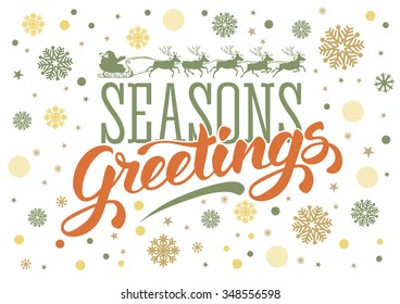 Seasons greetings text images stock photos vectors shutterstock seasons greetings vintage card for winter holidays hand lettering calligraphic inscription by brush m4hsunfo