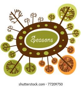 Seasons of the year funny logo