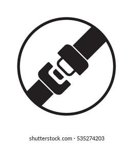 seat belt, badge, vector illustration EPS 10