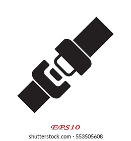 seat belt, badge, vector illustration eps10
