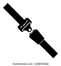 Seat belt icon black color