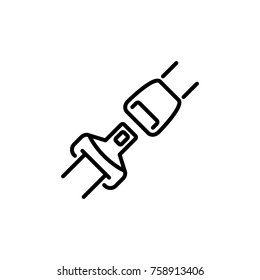 Seat belt icon vector