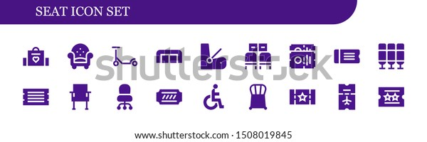 Pleasant Seat Icon Set 18 Filled Seat Stock Vector Royalty Free Onthecornerstone Fun Painted Chair Ideas Images Onthecornerstoneorg