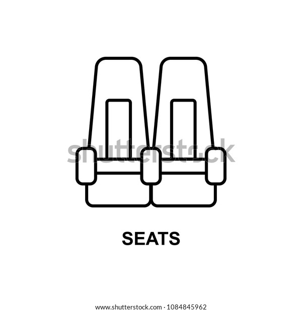 seats in cinema icon. Element of cinema for mobile concept and web apps. Thin line seats in cinema icon can be used for web and mobile. Premium icon on white background