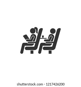 Seats on the plane icon. Element of airport icon for mobile concept and web apps. Detailed Seats on the plane icon can be used for web and mobile