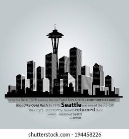 Seattle city silhouette.