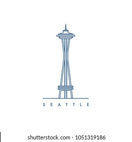 Seattle city. Vector illustration.