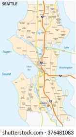 seattle road and neighborhood map
