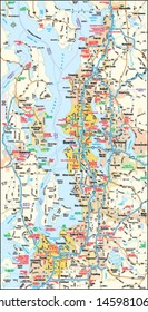 Seattle, Washington area map